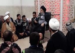 مدرسة الامام الصادق ع للعلوم الدينية في ضيافة المرجع الديني المدرسي