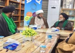 سماحة العلامة الحجة السيد عبد الصاحب الموسوي دامت بركاته في ضيافة مركز الإمام الصادق (ع)