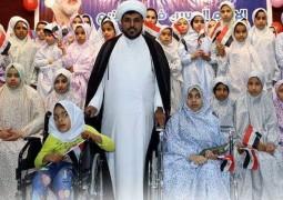 اول مرة في محافظة كركوك مكتب المرجع اليعقوبي' دام ظله' يقيم مهرجاناً لأكثر من ١٤٠ عائلة متعففة