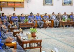العتبة العلوية تحتفي بنخبة من المتطوعين الإيرانيين في خدمة حرم مرقد أمير المؤمنين (ع)