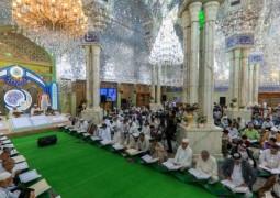 بالصور .. الختمات القرآنية الرمضانية في رحاب مرقد أمير المؤمنين (عليه السلام)