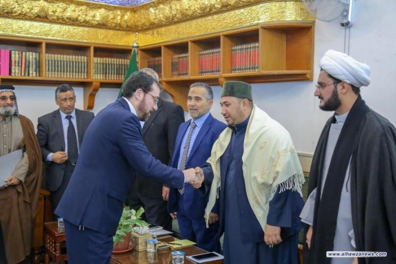 وفد إتحاد الروابط والتجمعات القرآنية في العراق في ضيافة العتبة العلوية المقدسة