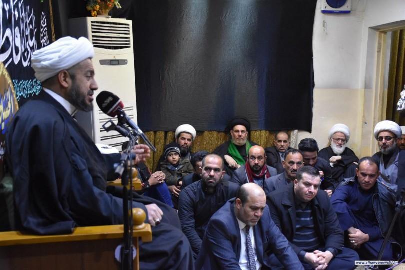بالصور المرجع اليعقوبي  يقيم مجلس العزاء السنوي بذكرى استشهادالصديقة الزهراء (عليها السلام)