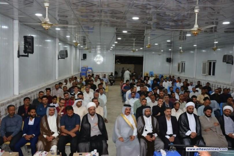برعاية مكتب المرجعية في ذي قار اقامت هياة المواكب الحسينية حفلا بهيجا بمناسبة الولادات الميمونة