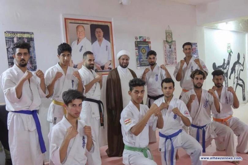 ضمن  فعاليات (اغتنم رمضانك)ممثل المرجع اليعقوبي يزور قاعة الكيوكوشنكاي