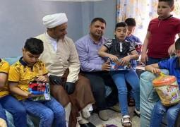 فضلاء الحوزة العلمية في ضيافة الأيتام ببغداد .. وبهجة العيد تسود الأجواء