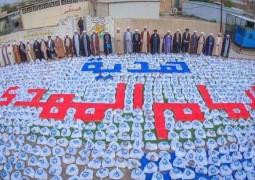 مكتب المرجع اليعقوبي بغداد يجهز ثلاثة آلاف سلة غذائية لشهر رمضان المبارك