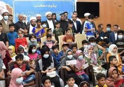 مكتب المرجع اليعقوبي يوزع هدية كسوة العيد للأيتام والاهالي يثمنون المبادرة