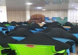 جامعة الزهراء (ع) وبالتعاون مع مجمع المبلغات تنظم مجلس عزاء بمناسبة ذكرى شهادة الزهراء(ع)