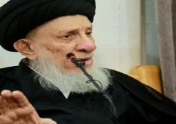 المرجع الحكيم  يستقبل طلبة العلوم الدينية في حوزة طهران