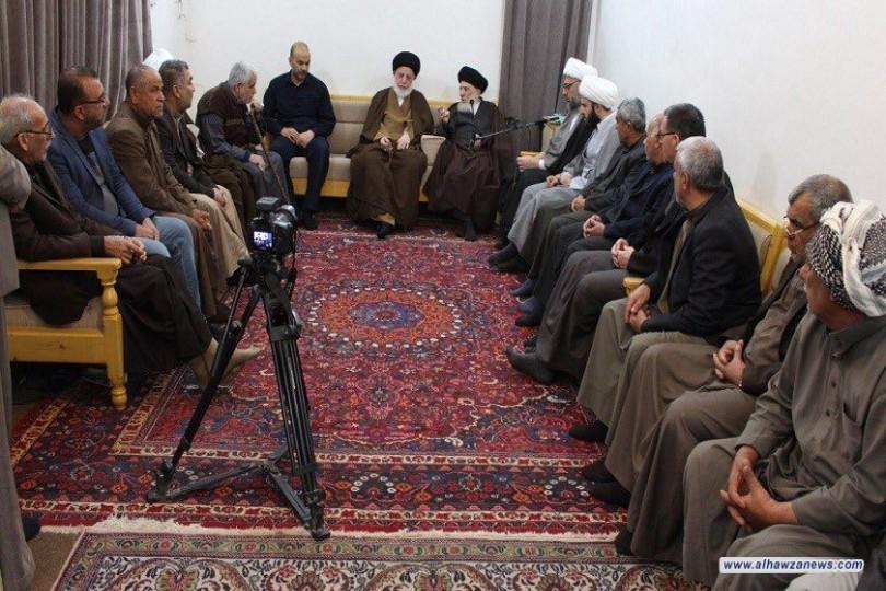 المرجع الديني السيد الحكيم:   أوصي المؤمنين بتحمل المسؤولية بأن يكونوا الوجه الصالح للدين والمذهب والتحلي بالأخلاق الفاضلة والسلوك القويم
