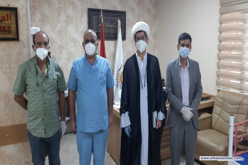 مكتب المرجع اليعقوبي في بغداد الرصافة يتفقد المصابين بكورونا في مستشفى ابن القف