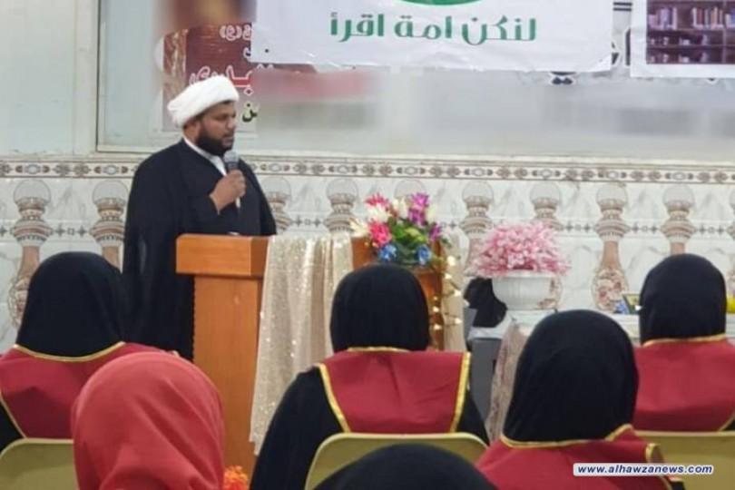 مجمع المبلغات في الناصرية ينظم حفلاً للمشاركات في مشروع (من علّم عشرة)