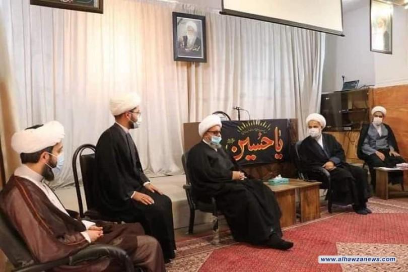 مدير مكتب سماحة المرجع اليعقوبي في مشهد المقدسة يزور آية الله علي رضا حدائق والحوزات التابعة له .