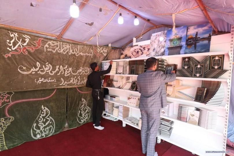 معرض العتبة العسكرية المقدسة يكمل استعداداته على طريق الزائرين الوافدين لزيارة الامام الحسين (عليه السلام).