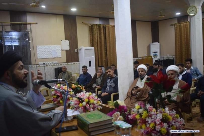 ممثلية المرجع اليعقوبي في قضاء الحمزة الشرقي تستضيف الباحث الاسلامي السيد حازم الحسيني المالي لاقامة ندوة علمية تحت عنوان (ابعاد الخطاب الفاطمي)
