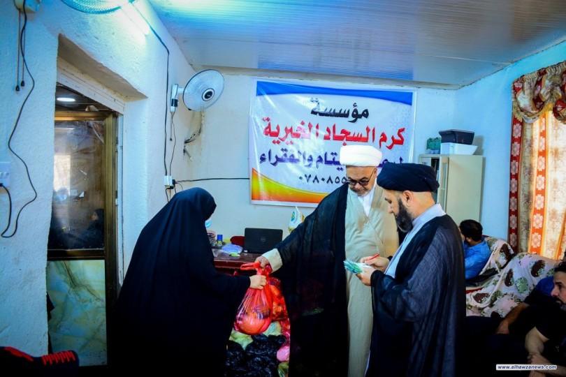 مع غلاء الاسعار مؤسسة كرم السجاد الخيرية تمد يد العون للمعوزين بحلول شهر رمضان المبارك