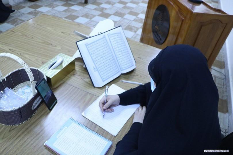بمشاركة 106 حافظات العتبة الحسينية المقدسة تختتم مسابقتها القرآنية الإلكترونية