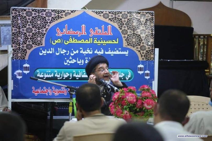 تحت عنوان (ضرورة تفعيل دور القرأن في شهر رمضان) الملتقى الرمضاني يستضيف السيد عبد السلام الموسوي