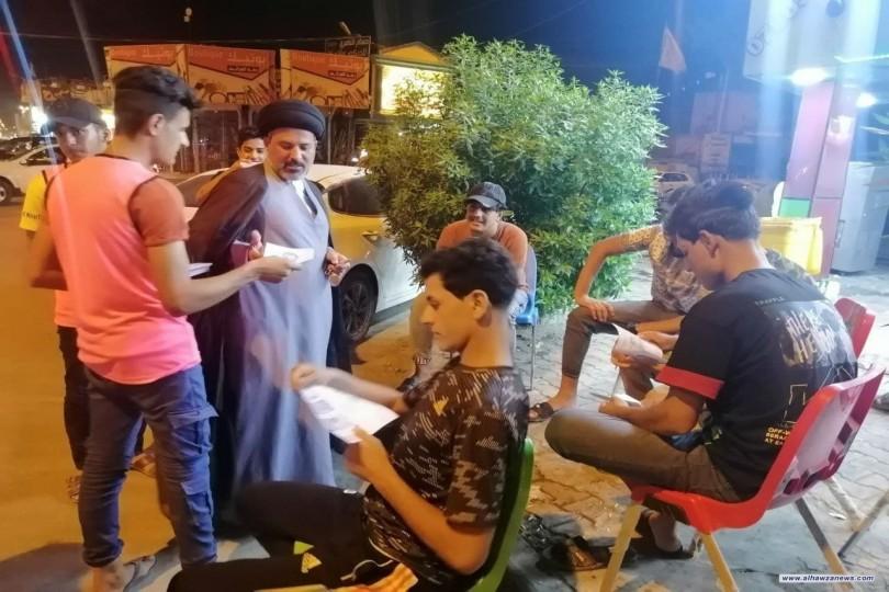 هيئة شباب الامام الحسن المجتبى (ع) تنظم حملة توعية للحد من خطر المخدرات