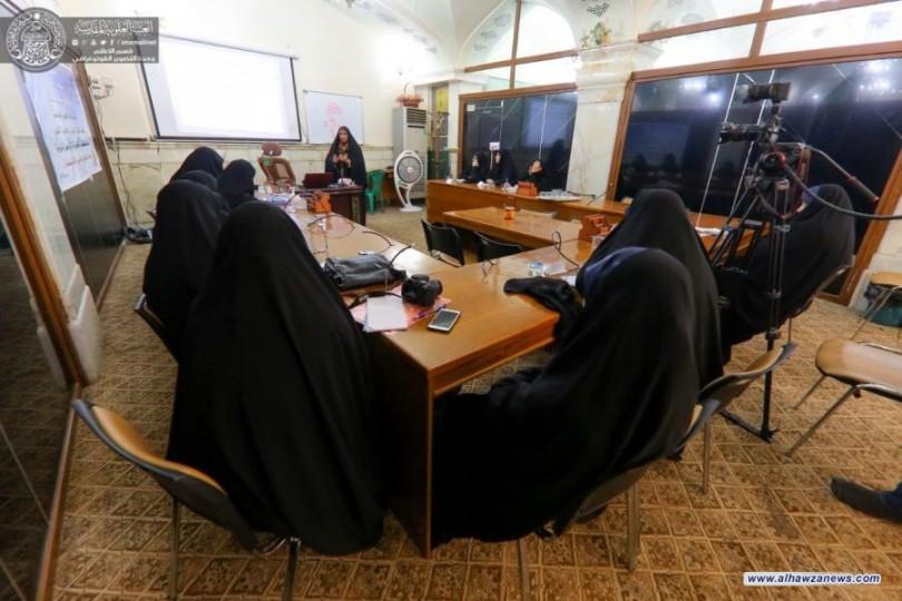 """شعبة المكتبة الفكرية النسوية تقيم ورشة عمل تدريبية بعنوان"""" التطوير النفسي للمرأة"""""""