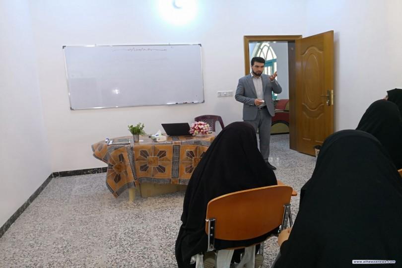فيض الزهراء بالتعاون مع حسينية ومدرسة الامام الباقر تباشر بيومها الاول لدورة التوحد للاطفال مجانا .