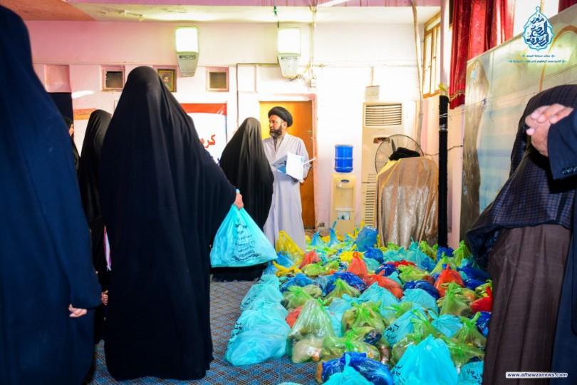 مؤسسة كرم السجاد الخيرية و فيض الزهراء (ع) ينظمان حملة توزيع الى عوائل الايتام